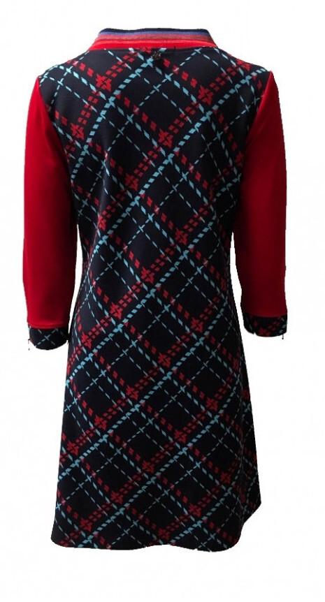 Maloka: Jacquard Tartan Flared Dress (2 Left!)