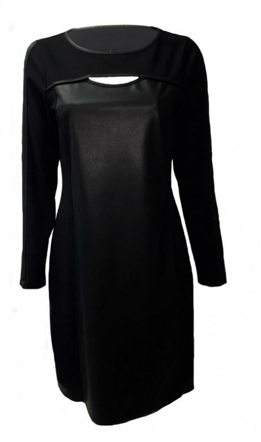 Maloka: Vegan Leather Keyhole Little Black Dress (Few Left!)