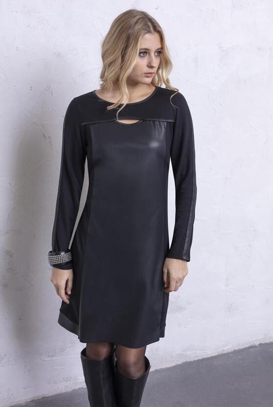 Maloka: Vegan Leather Keyhole Little Black Dress (Few Left!) MK_DARLEEN