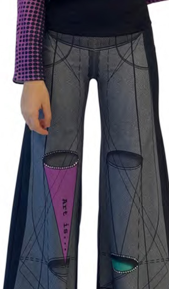 IPNG: Art Is My Body In Rhythm Illusion Comfort Pants