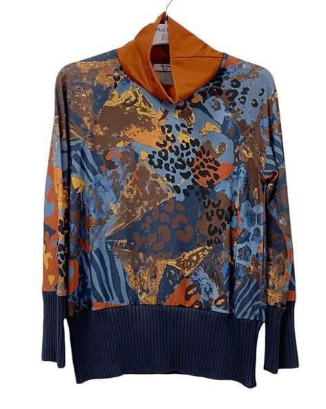 Paul Brial: Fancy Footprint Comfy Sweater PB_REBEL