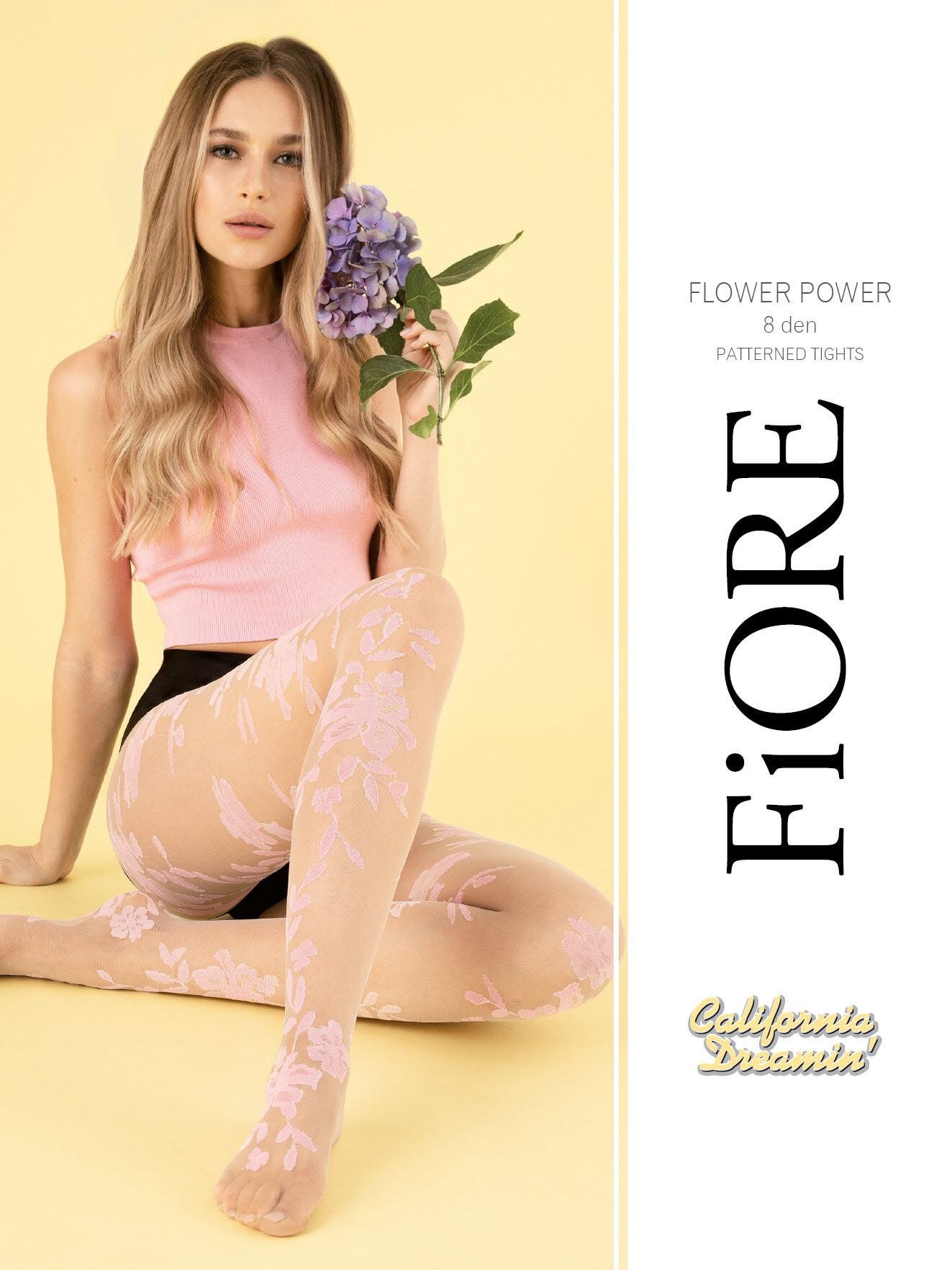 Fiore: Flower Power Nude Patterned Tights (2 Left!)
