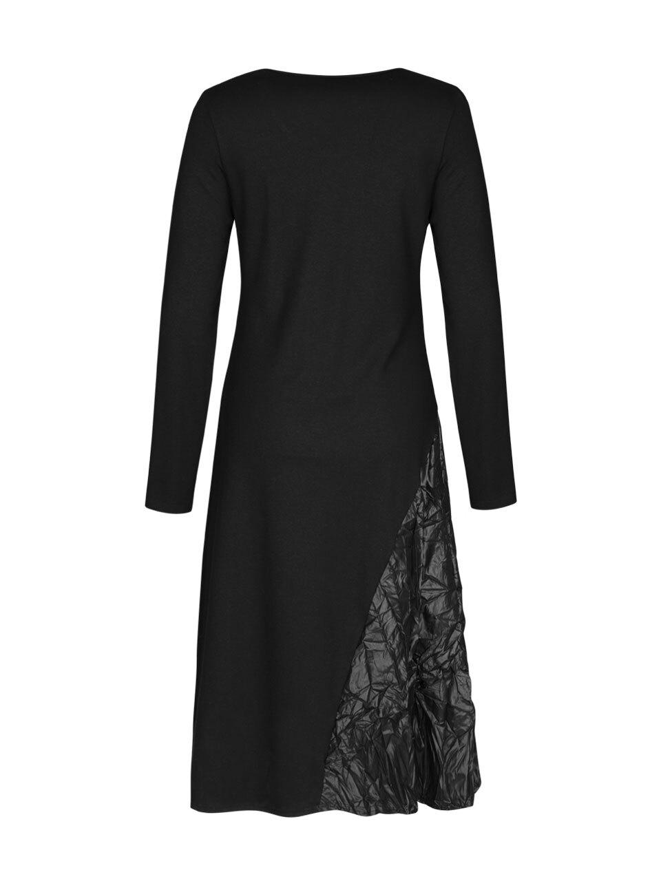EverSassy By Dolcezza: Asymmetrical Pocket Multi-Media Black Dress