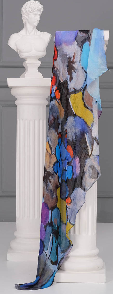 Simply Art Dolcezza: Still Life Abstract Art Scarf (2 Left!) Dolcezza_SimplyArt_71905