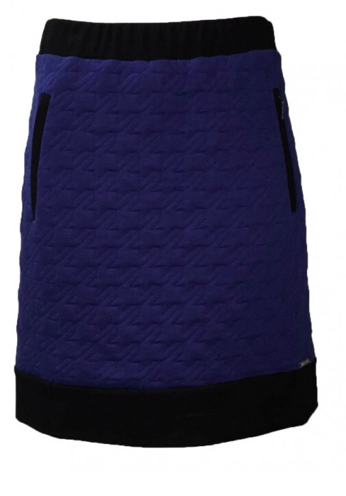 Maloka: Color Contrast Quilted Skirt MK_MAESIE