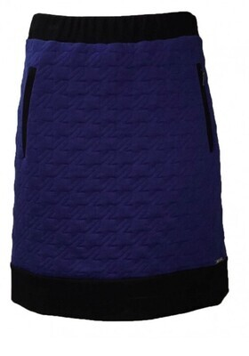 Maloka Color Contrast Quilted Skirt