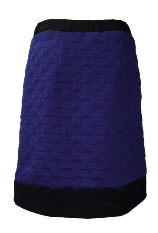 Maloka: Color Contrast Quilted Skirt