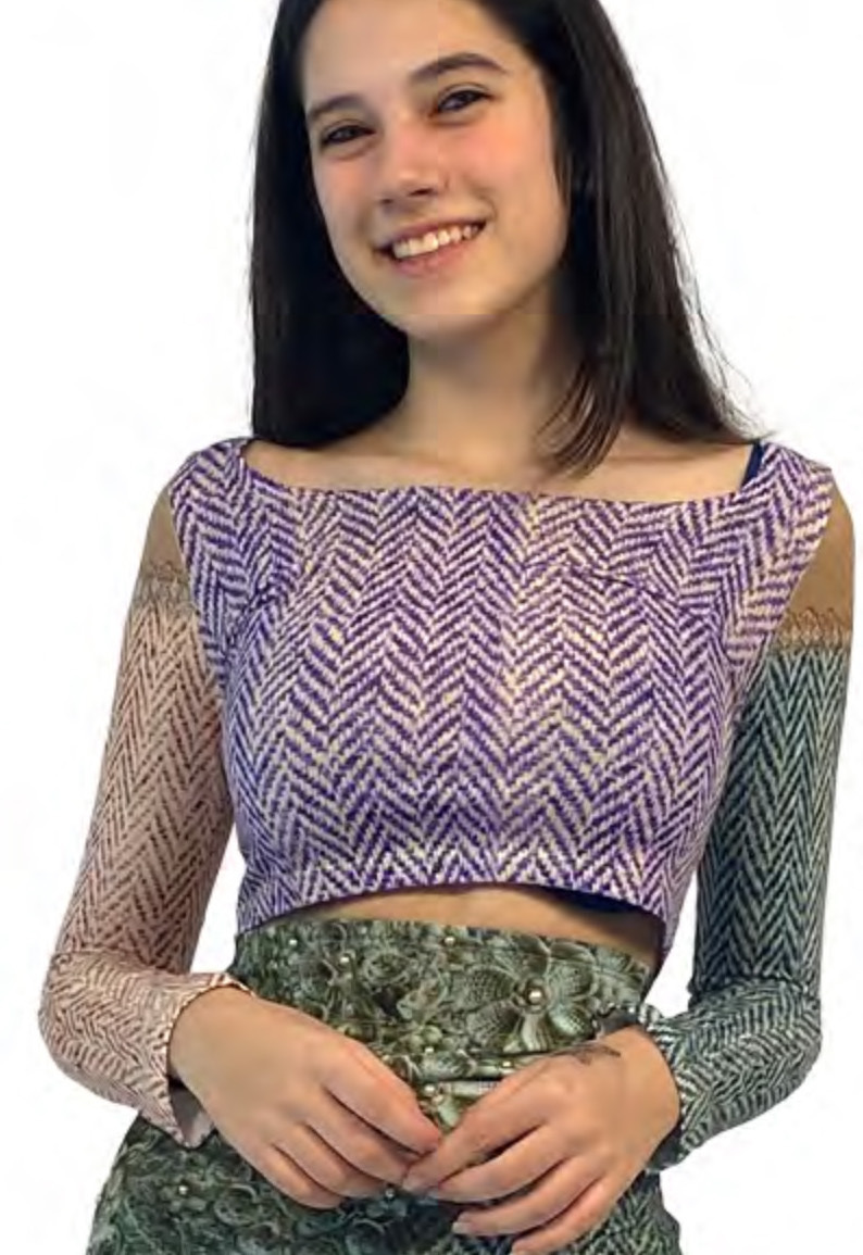 IPNG: Mood Of Flavour Tweed Illusion Mini Shirt (Comes In 2 Lengths!) IPNG_MFSHM-076