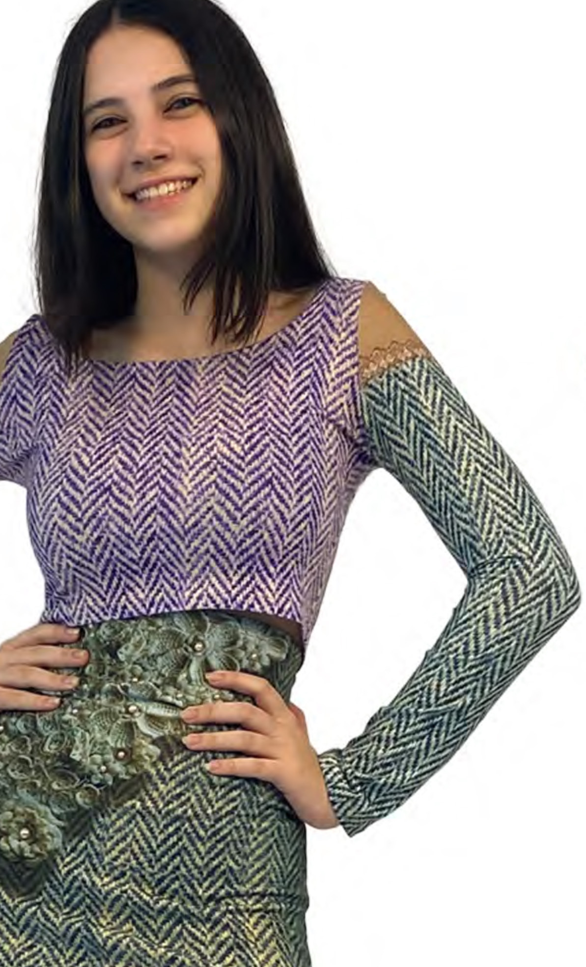 IPNG: Mood Of Flavour Tweed Illusion Mini Shirt (Comes In 2 Lengths!)