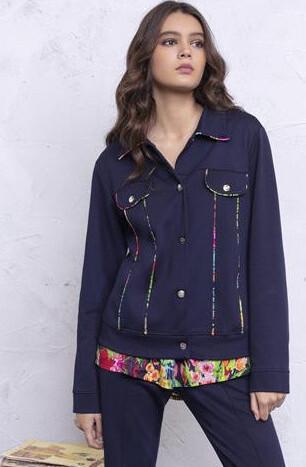 Maloka: Fancy Floral Ribboned Soft Denim Jacket (2 Left!)