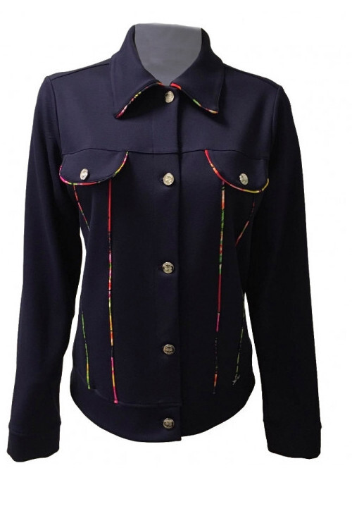 Maloka: Fancy Floral Ribboned Soft Denim Jacket (2 Left!) MK_PANSY