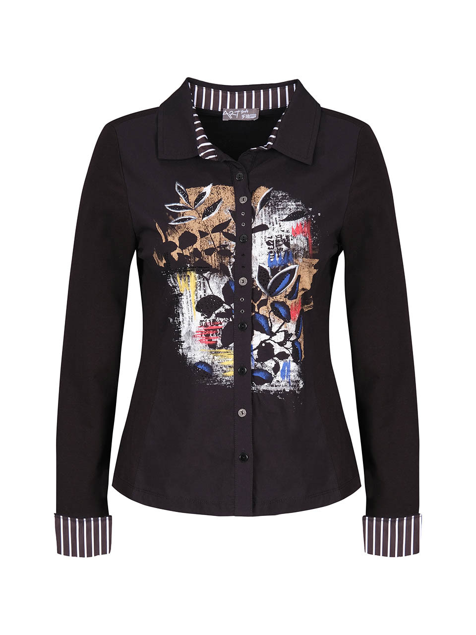 Simply Art Dolcezza: Double OO Abstract Art Buttoned Down Blouse (Few Left!)