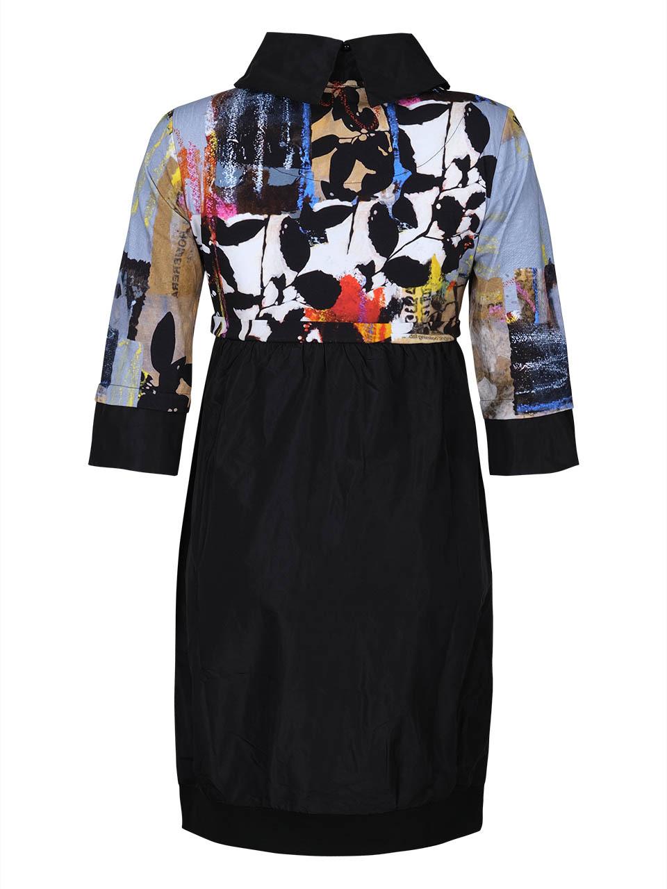 Simply Art Dolcezza: Mixed Media Double OO Abstract Art Midi Dress (3 Left!)