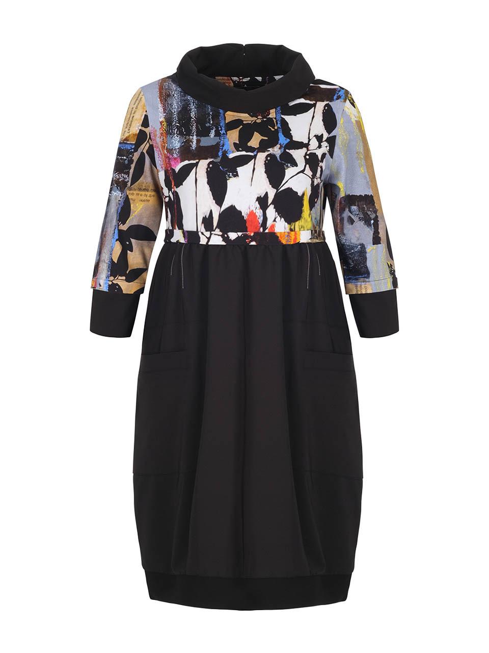 Simply Art Dolcezza: Mixed Media Double OO Abstract Art Midi Dress (3 Left!) Dolcezza_SimplyArt_71699