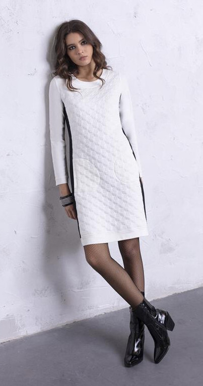 Maloka: Color Contrast Quilted Pocket Dress (More Colors!) MK_MARGUI