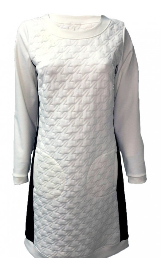 Maloka: Color Contrast Quilted Pocket Dress (More Colors!)