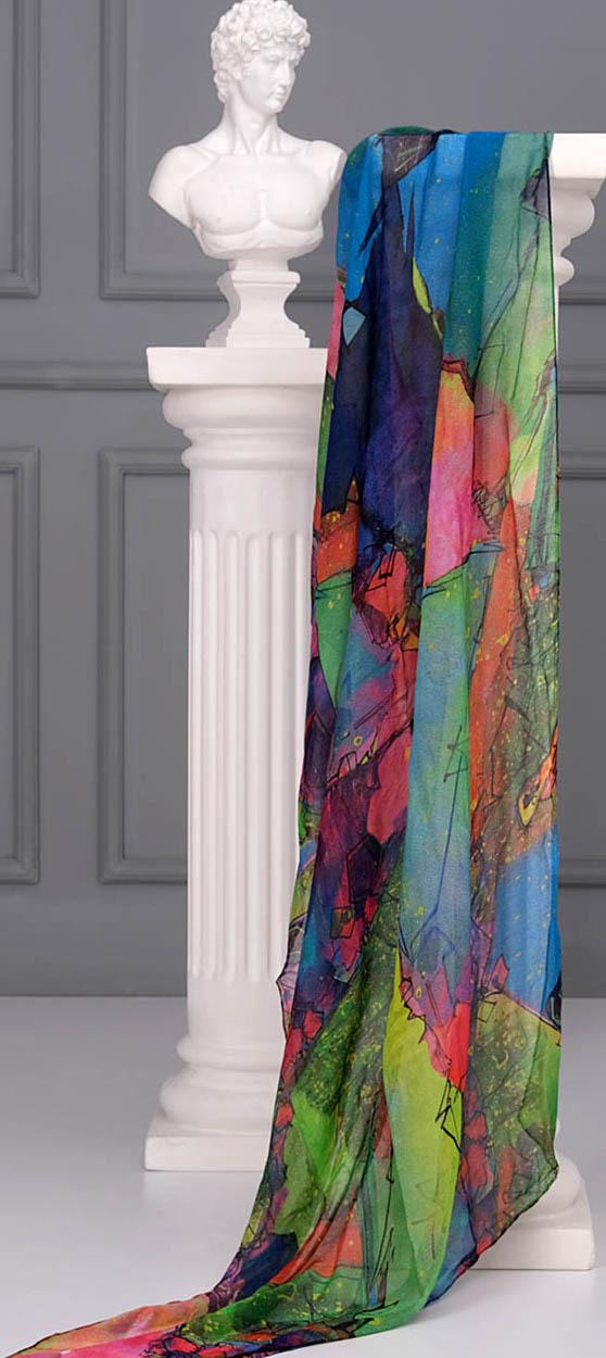 Simply Art Dolcezza: Arty Dog Mia Abstract Art Shawl Scarf (1 Left!) Dolcezza_SimplyArt_71907