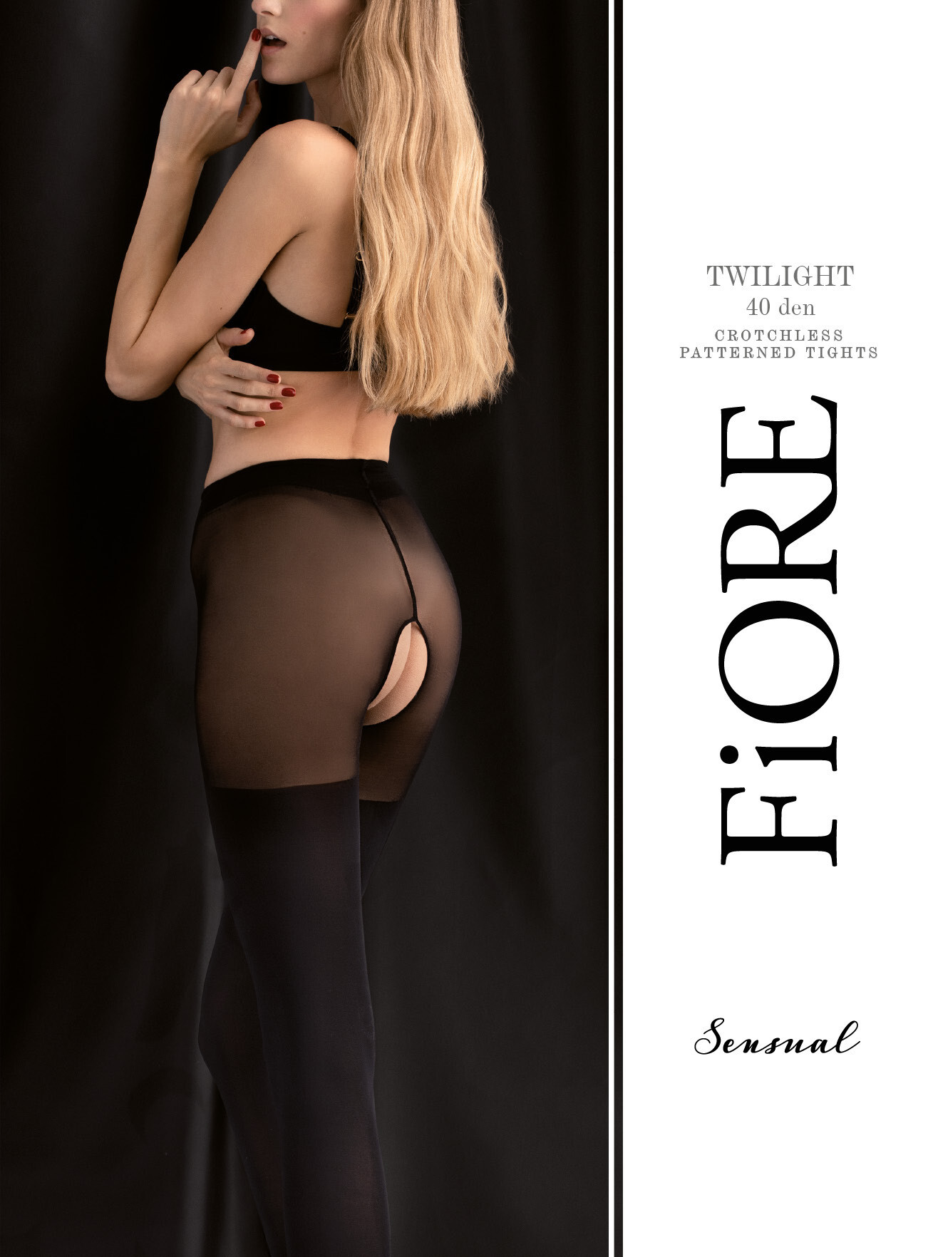 Fiore: After Dusk Open Gusset Semi-Opaque Tights
