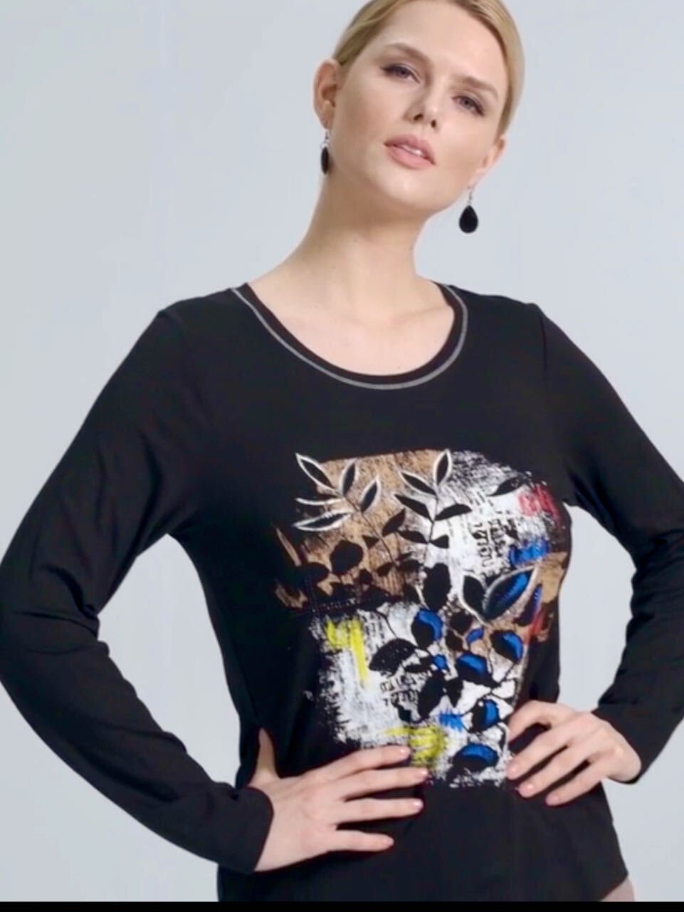 Simply Art Dolcezza: Double OO Abstract Art Top (2 Left!)