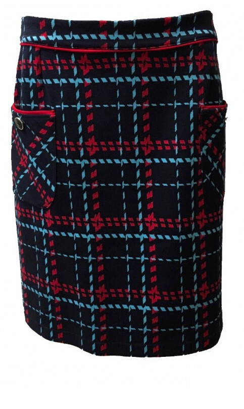 Maloka: Comfy Jacquard Tartan Pocket Skirt (1 Left!) MK_TEEA