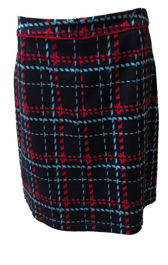 Maloka: Comfy Jacquard Tartan Pocket Skirt (1 Left!)
