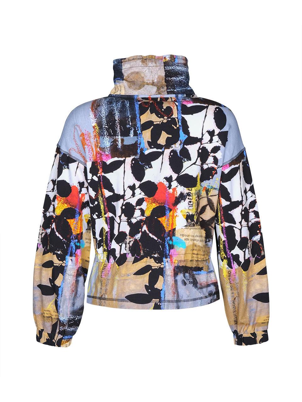 Simply Art Dolcezza: Pull Tie Waist Zip Up Double OO Art Jacket (2 Left!)
