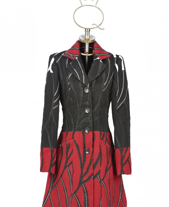 Save The Queen Italy: Wool Rose Garden Giacca Coat (1 Left!) STQ_2068_N2