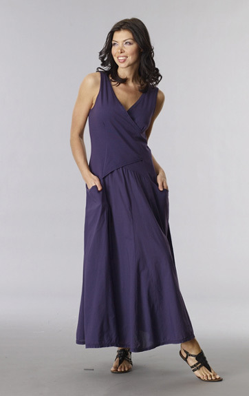 Luna Luz: Cross Over Bodice Long Dress (Ships Immed in Iris, 1 Left!) LL_516_IRIS