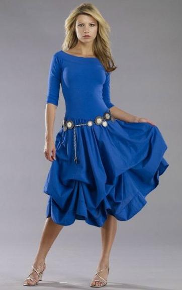 Luna Luz: Tied & Dyed Off The Shoulder Godet Dress SOLD OUT