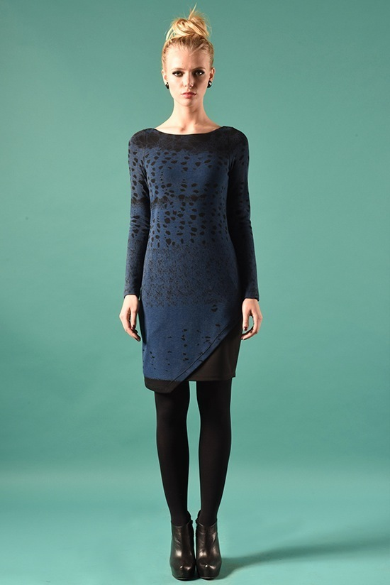 Eroke Italy: Asymmetrical Shades of a Midnight Sky Dress