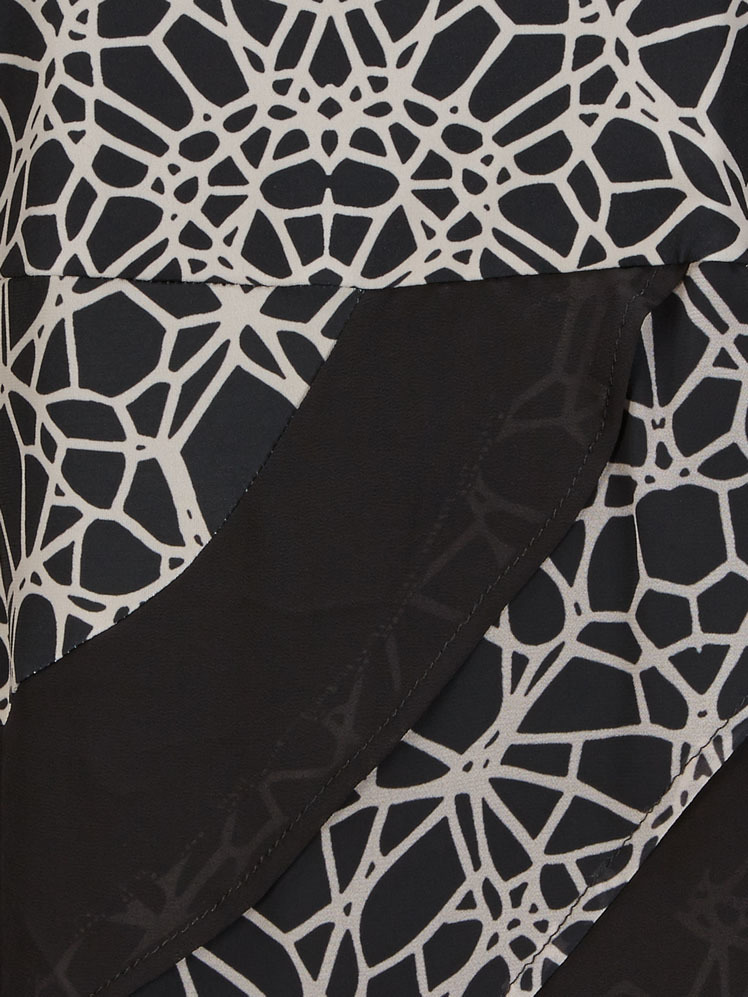 Eroke Italy: Asymmetrical Layers of Ruffles Dress