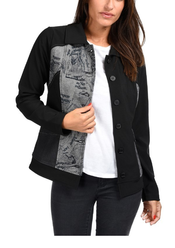 S'Quise Paris: Inverted Pocket Printed Jacket