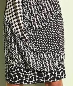 Eroke Italy: Black Magic Mixed Media Asymmetrical Dress (1 Left!)
