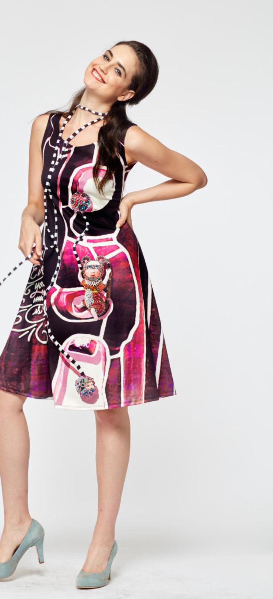 IPNG: Alice In Bejeweled Wonderland Color Block Sundress (Some Ship Immed!) IPNG_FDW58_N