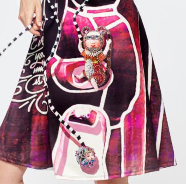 IPNG: Alice In Bejeweled Wonderland Color Block Sundress (Some Ship Immed!)