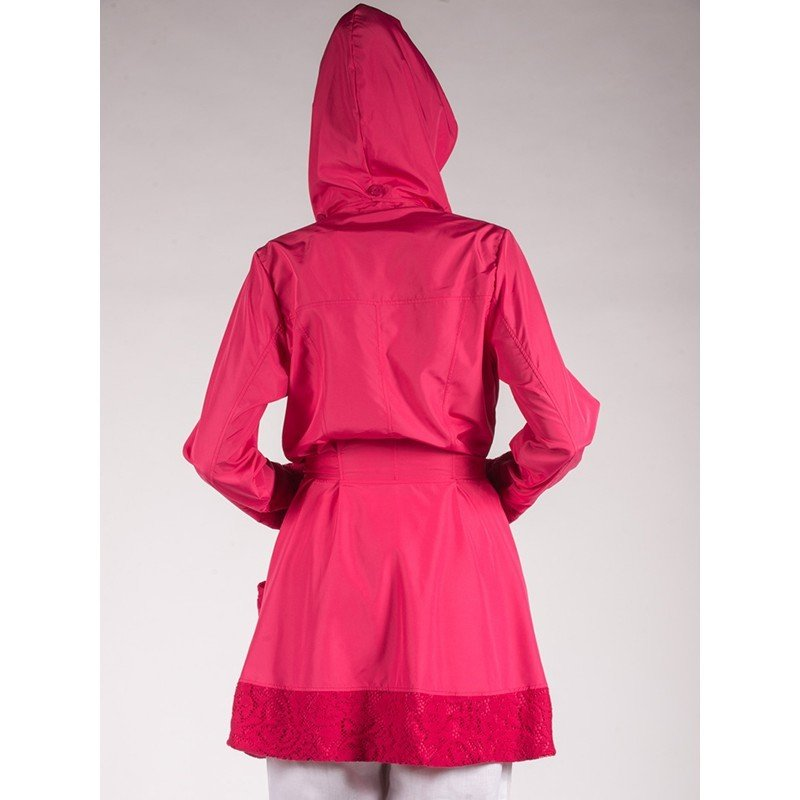 Maloka: Rosette Cotton Rain Coat (2 Left in Red Rose & Pale Rose!)