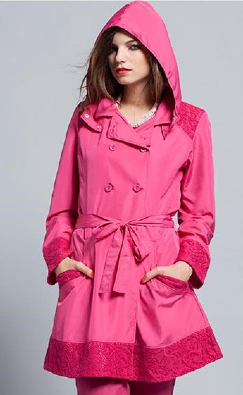 Maloka: Rosette Cotton Rain Coat (2 Left in Red Rose & Pale Rose!) MK_IORI_N3