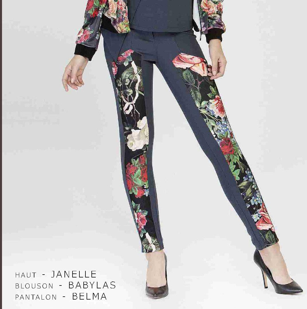 Maloka: Velvet Bouquet Printed Pant (2 Left!)