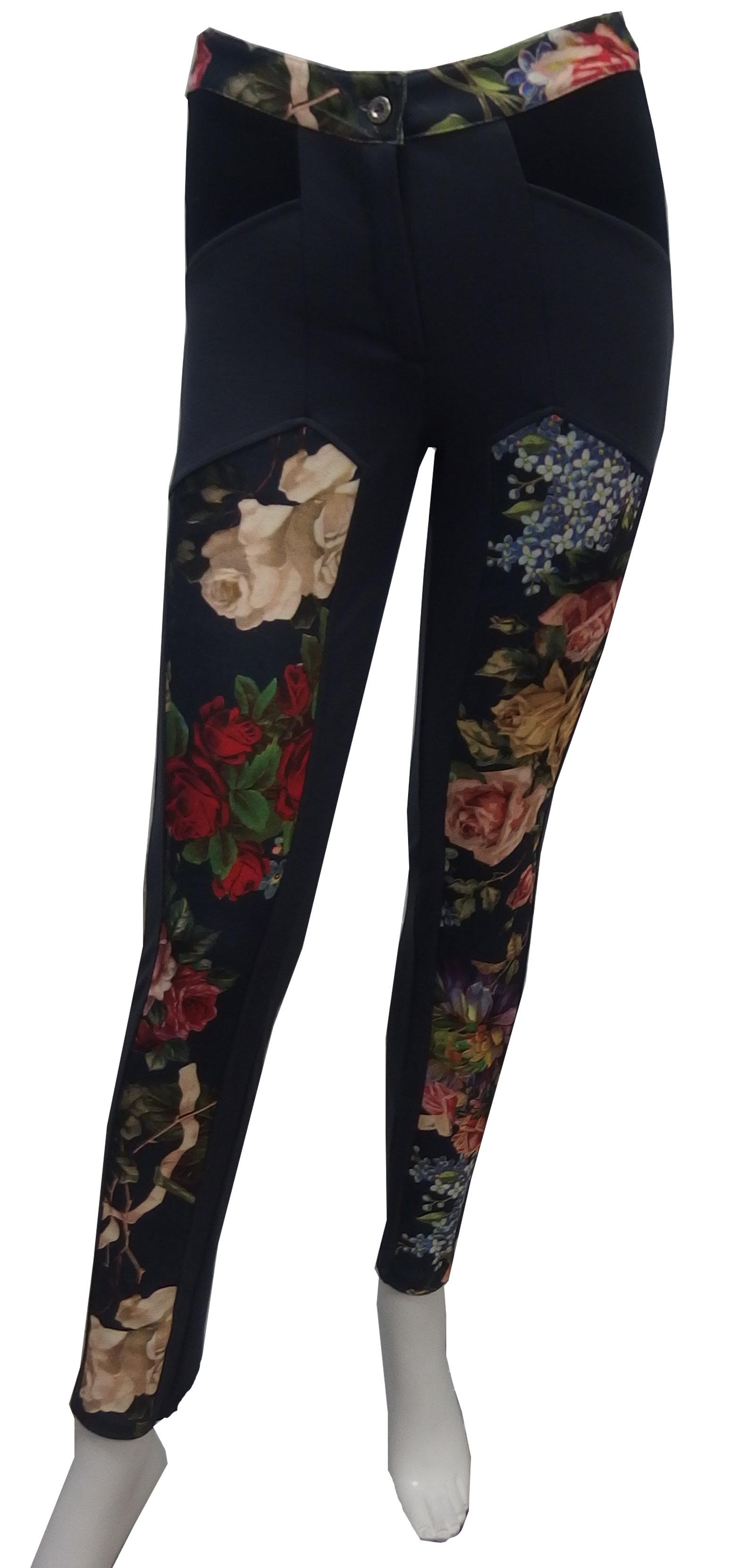 Maloka: Velvet Bouquet Printed Pant (2 Left!) MK_BELMA