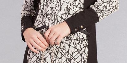 Dolcezza: Diamond Designed Color Block Sweater  Dress (1 Left!)