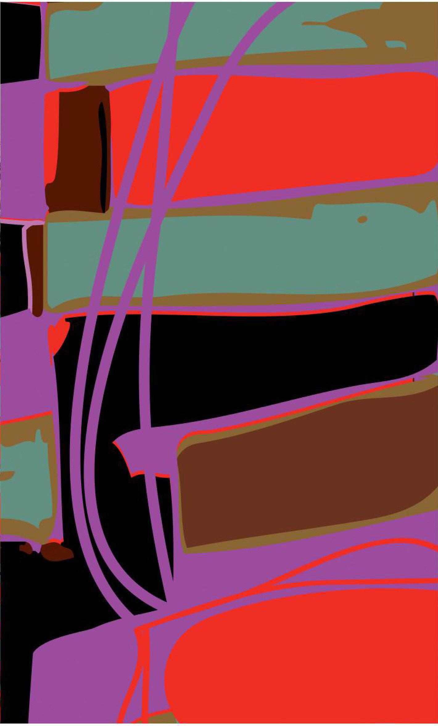 Volt Design: Asymmetrical Purple Pop Abstract Art Tunic (Ships Immed, 1 Left!)