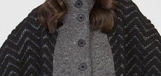 Maloka: Jacquard Wool Buttoned Down Shawl Vest (Non Itchy: Boiled Wool, Few Left & More Colors!)