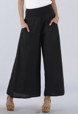 Luna Luz: Feather Light High Waisted Cotton Pant (Ships Immed, 1 Left! LL_211_N
