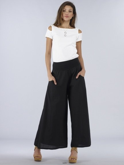 Luna Luz: Feather Light High Waisted Cotton Pant (Ships Immed, 1 Left!
