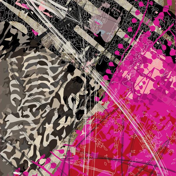 Volt Design: Pink Forest Asymmetrical Art Tunic (Ship immed, 2 Left!)