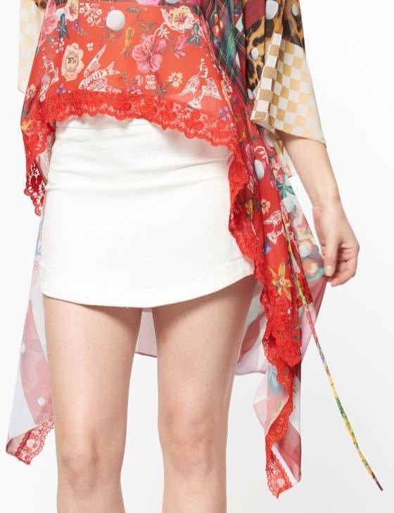 IPNG: Carnation Cut Out Asymmetrical Illusion Long Tunic SOLD OUT