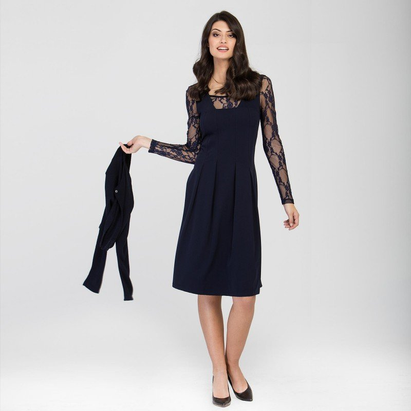Maloka: Blue Violet Lace Embroidered Dress (Few Left!)