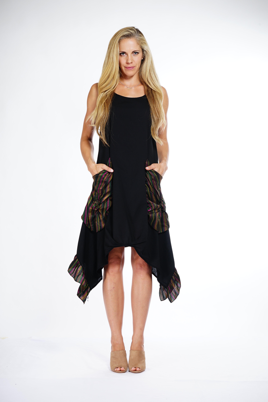 Luna Luz: Dramatic Handkerchief Hemline Dress (Ships Immed, Few Left!) LL_S502_N