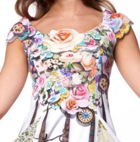 IPNG: Rosette Bodice 3D Pieced Chiffon Sundress SOLD OUT