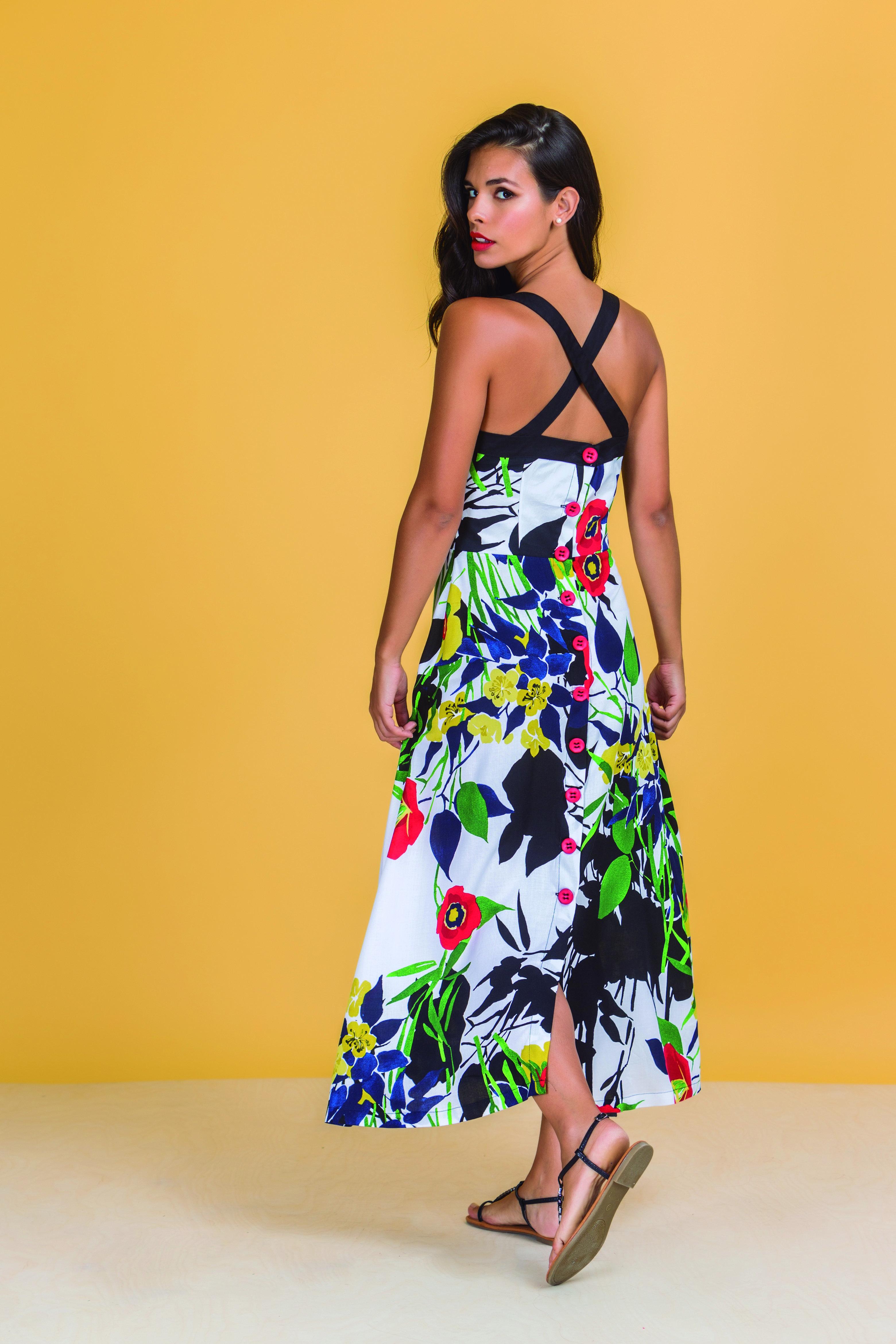 Paul Brial: Backwards Garden Maxi Dress (2 Left!) PB_EDEN_N5
